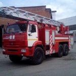 Aвтоцистерна пожарная с лестницей АЦЛ 4,0-40/30(43118) на шасси КАМАЗ-43118-50