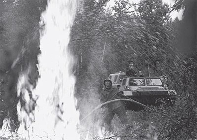 Лесные и торфяные пожары в СССР в 1972 году