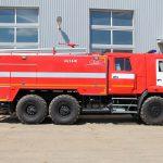 Полная масса пожарного автомобиля 20520 кг.