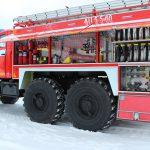 Автоцистерна пожарная АЦ 5,5 – 60 (5557) колесная формула 6*6