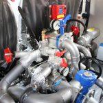 На автоцистерну пожарную устанавливается пожарный одноступенчатый насос нормального давления типа НЦПН-40/100 со встроенной автоматической вакуумной системой водозаполнения.