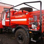 АЦ имеет устройство для заправки ранцевых лесных огнетушителей (РЛО) и подключения УВД