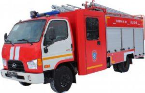 Автоцистерна пожарная АЦ 1,0-40 (Hyundai HD-78)