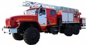 Автоцистерна пожарная с лестницей АЦЛ 2,5-40-17 (4320)