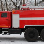 Автоцистерна пожарная АЦ 7,0 – 70 (4320) с объемом цистерны 7000 л.