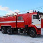 Автоцистерна пожарная АЦ 7,0-40 (65115) имеет колесную формулу 6х4