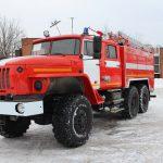 Автоцистерна пожарная АЦ 5,5 – 40 (5557)С имеет колесную формулу 6*6