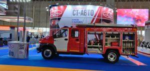 Автоцистерна пожарная  АЦ 1.6-40 на шасси ГАЗ NEXT C41R33 надстройка полностью из пластика